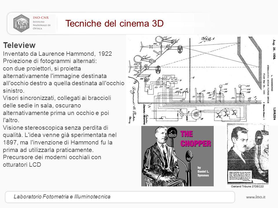 Tecniche del cinema 3D Teleview Inventato da Laurence Hammond, 1922