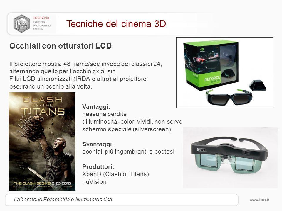 Tecniche del cinema 3D Occhiali con otturatori LCD