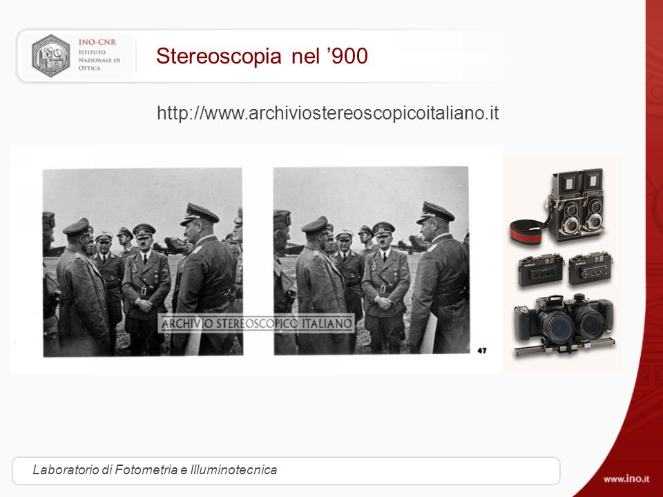 Stereoscopia nel '900 http://www.archiviostereoscopicoitaliano.it
