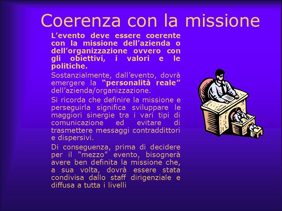 Coerenza con la missione