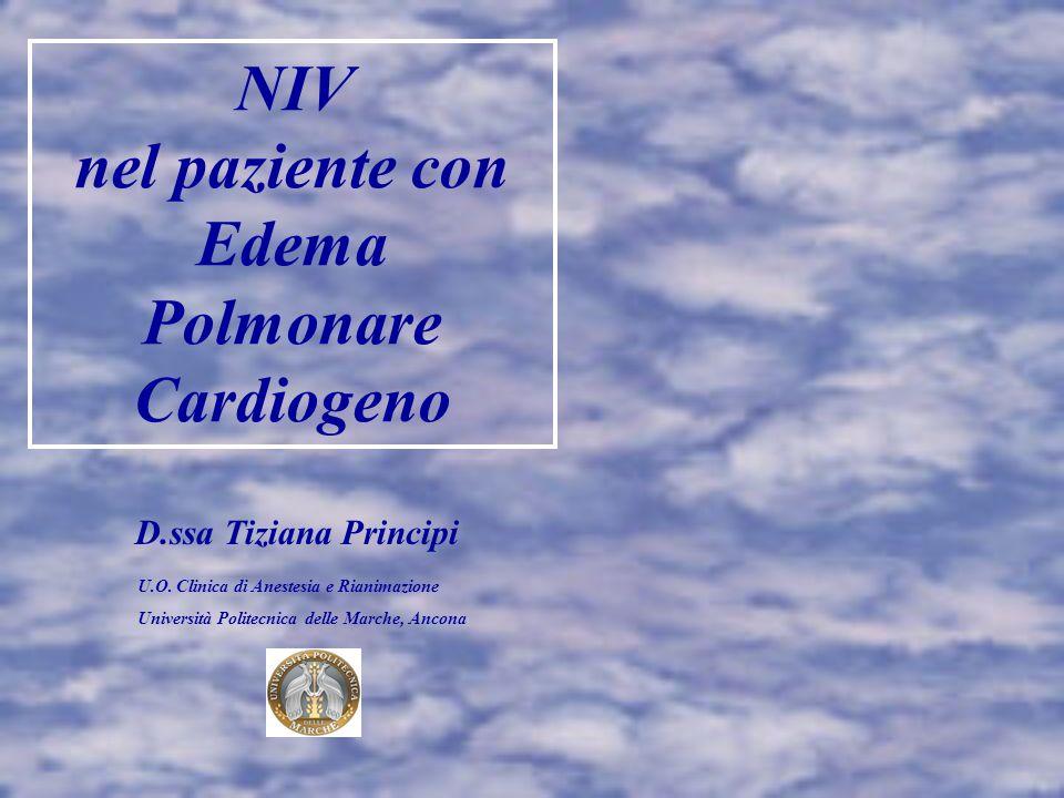 NIV nel paziente con Edema Polmonare Cardiogeno