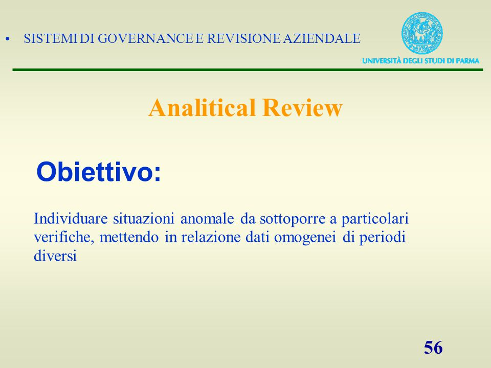 Obiettivo: Analitical Review