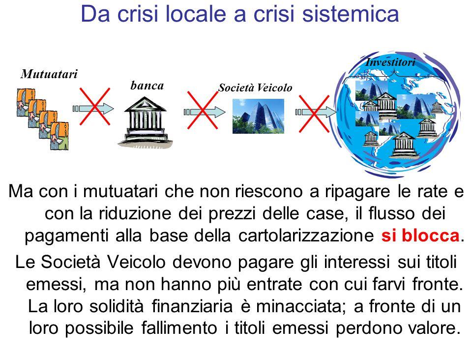 Da crisi locale a crisi sistemica