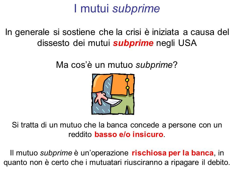 Ma cos'è un mutuo subprime