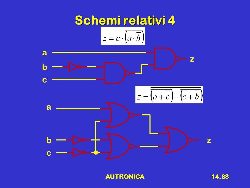 Schemi relativi 4 a z b c a b z c AUTRONICA