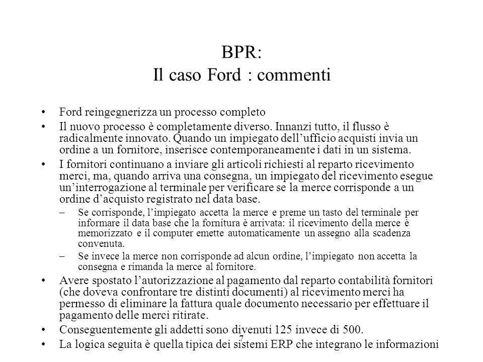 BPR: Il caso Ford : commenti