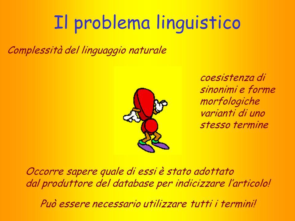 Il problema linguistico