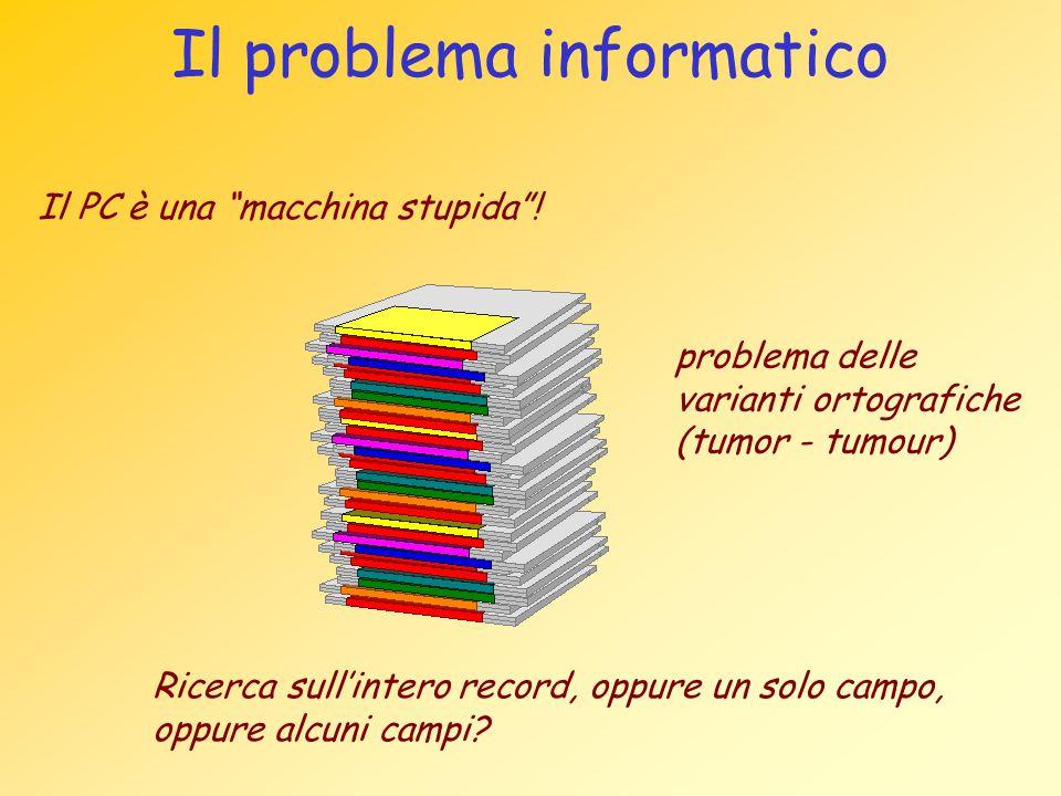 Il problema informatico