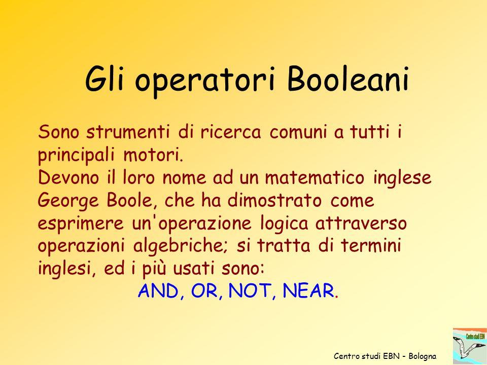 Gli operatori Booleani