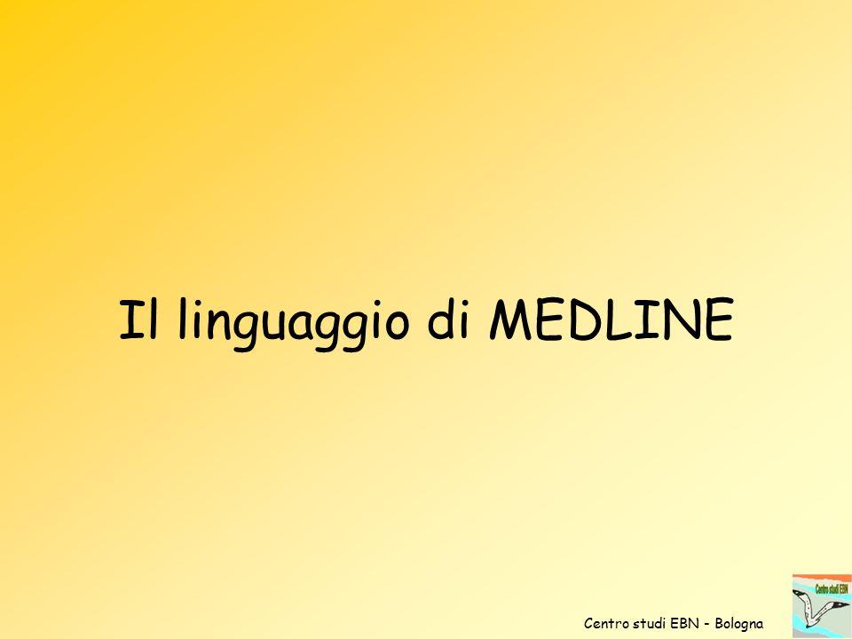 Il linguaggio di MEDLINE