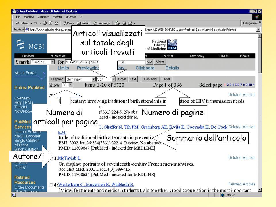 Articoli visualizzati sul totale degli articoli trovati