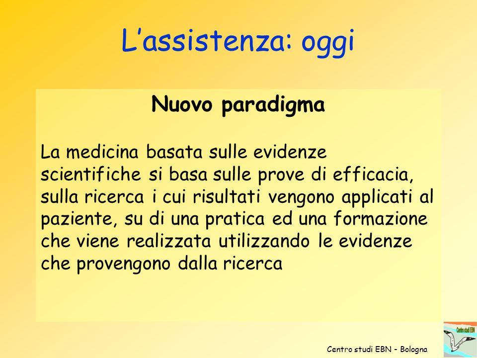 L'assistenza: oggi Nuovo paradigma
