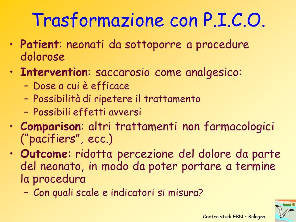 Trasformazione con P.I.C.O.