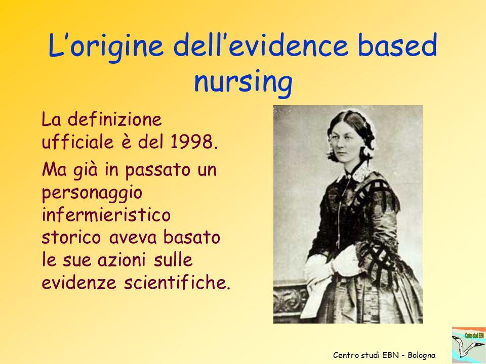 L'origine dell'evidence based nursing