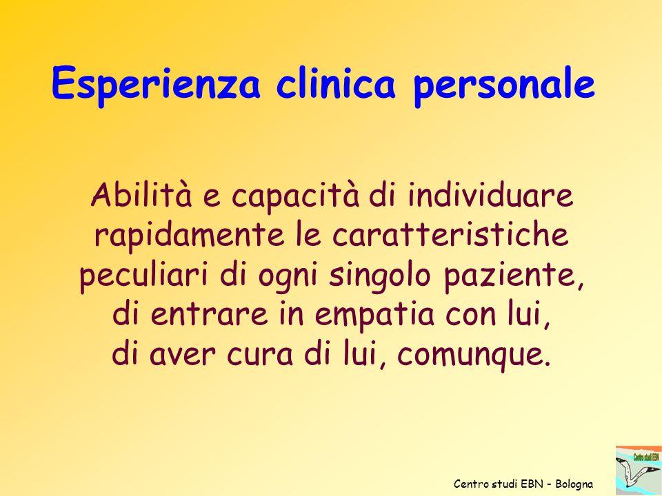 Esperienza clinica personale