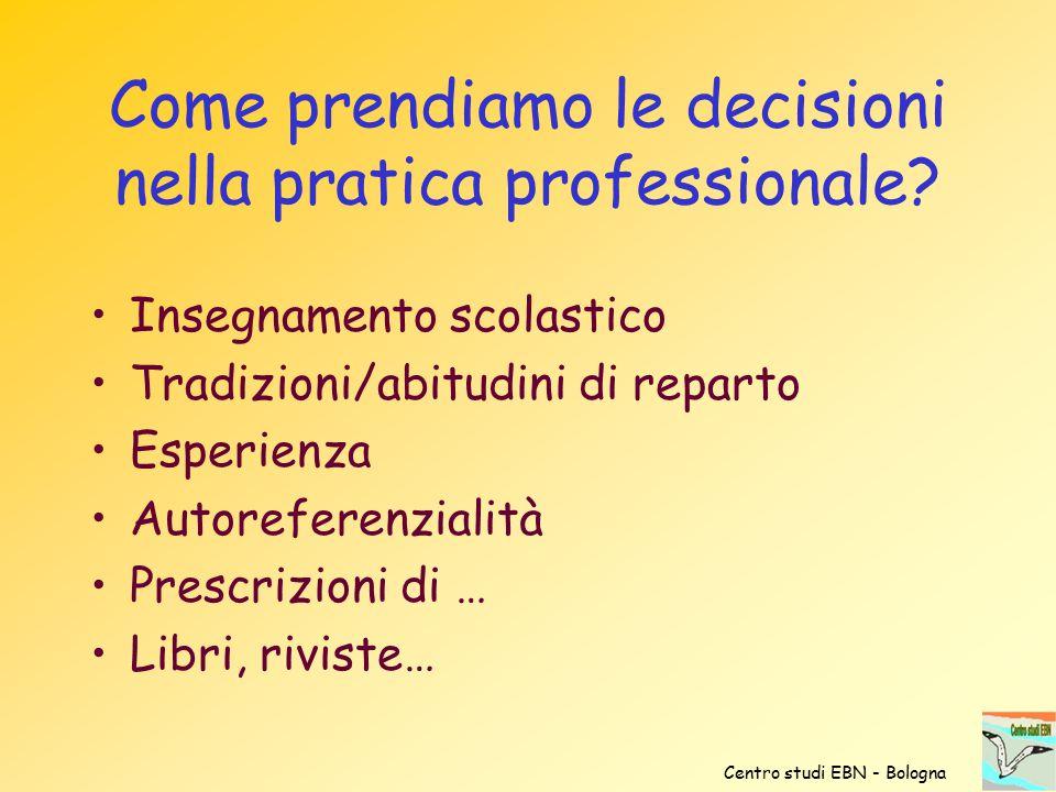 Come prendiamo le decisioni nella pratica professionale