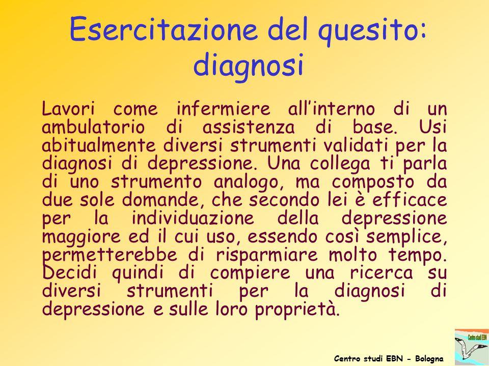 Esercitazione del quesito: diagnosi