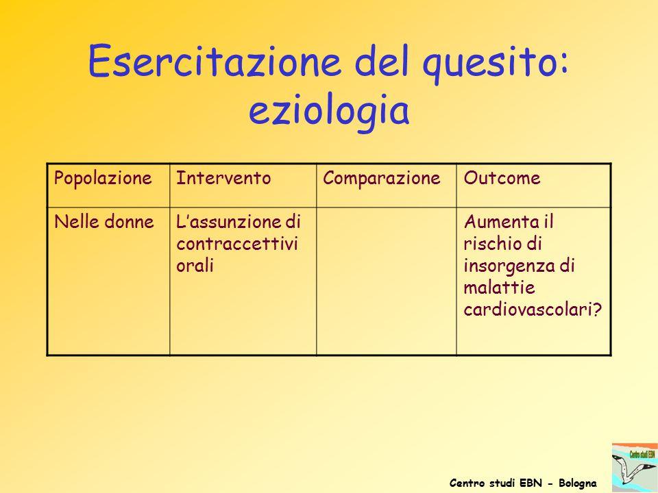 Esercitazione del quesito: eziologia
