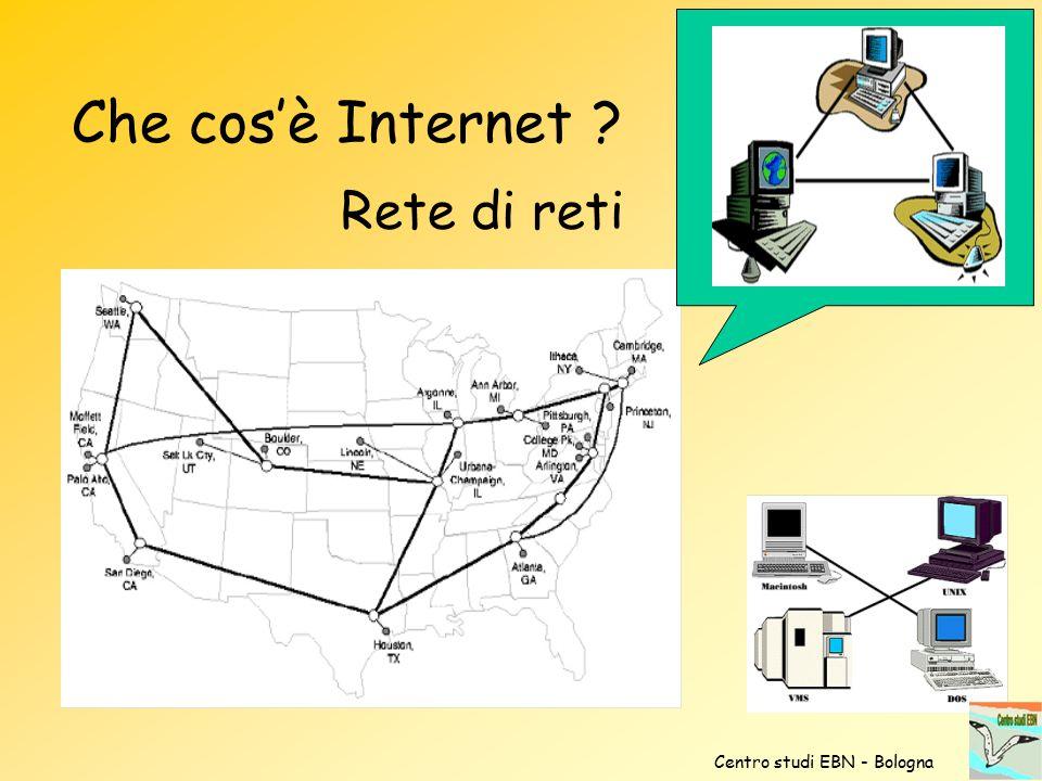 Che cos'è Internet Rete di reti Centro studi EBN - Bologna
