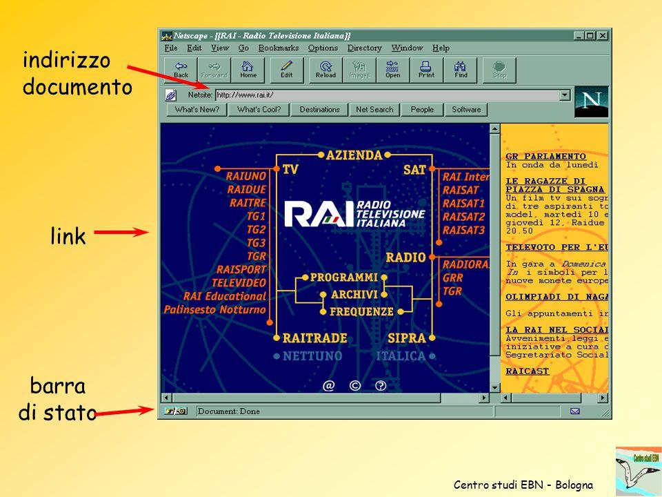 indirizzo documento link barra di stato Centro studi EBN - Bologna
