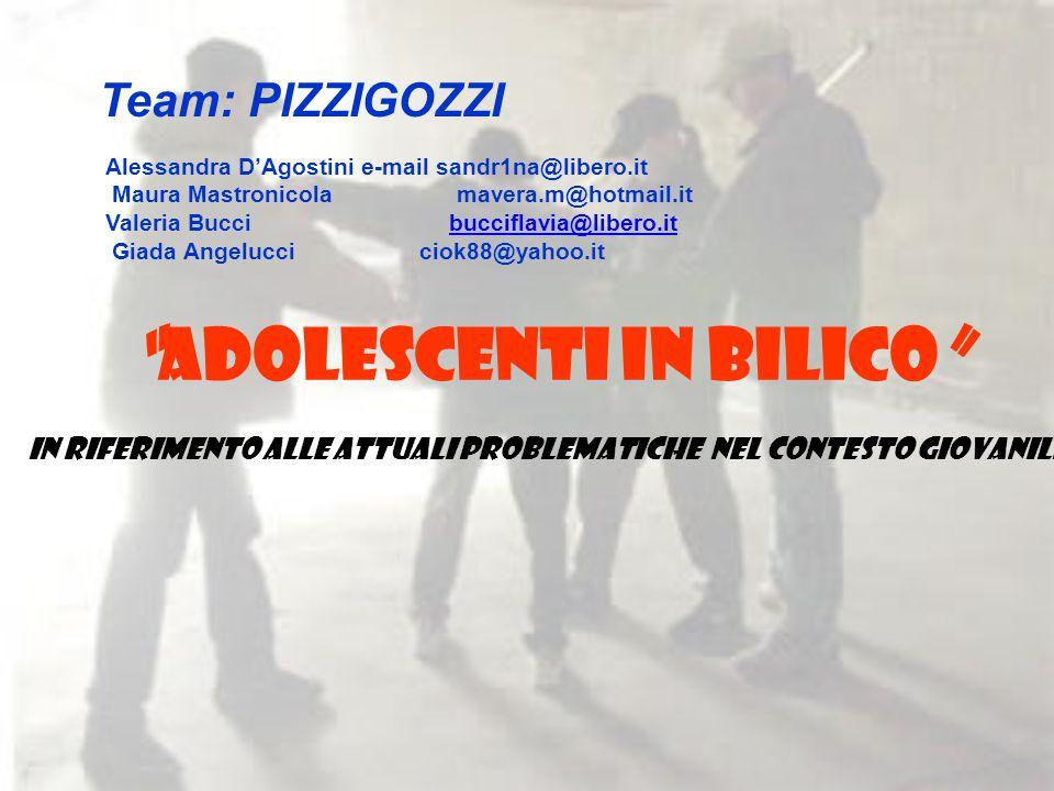 ADOLESCENTI IN BILICO