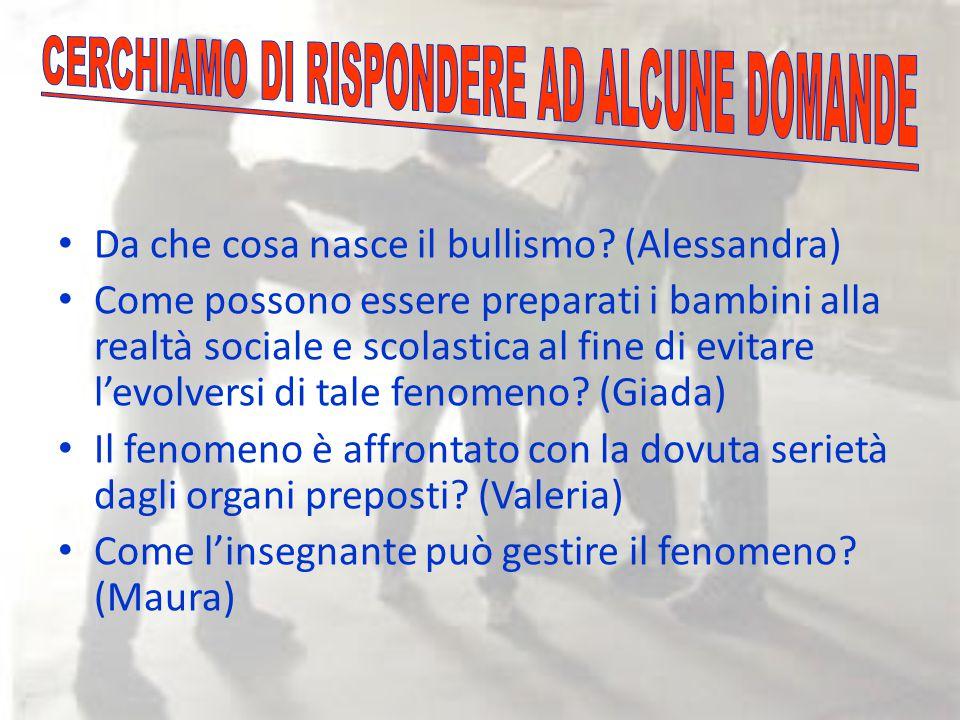 CERCHIAMO DI RISPONDERE AD ALCUNE DOMANDE