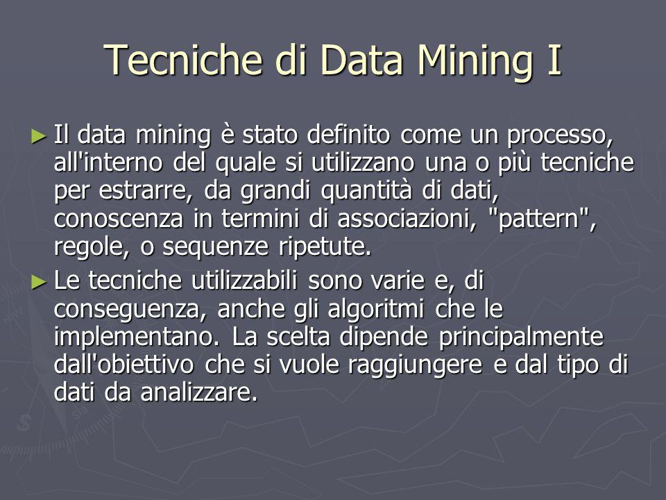 Tecniche di Data Mining I