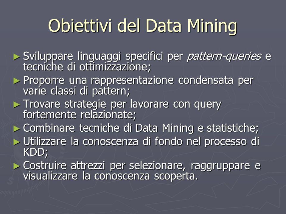 Obiettivi del Data Mining
