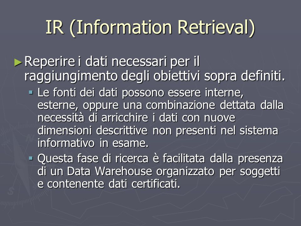 IR (Information Retrieval)