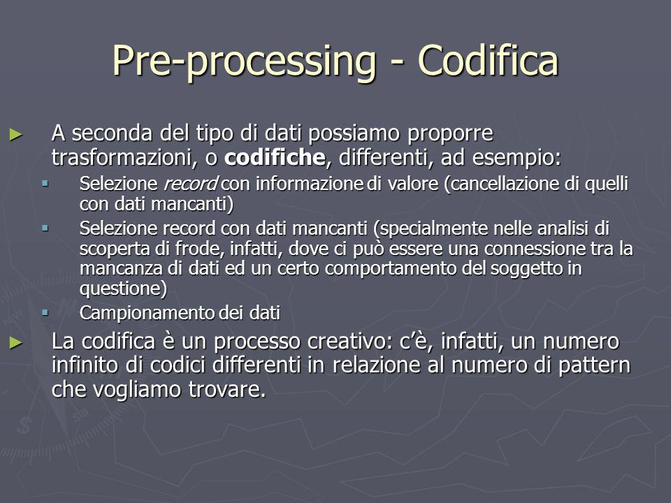 Pre-processing - Codifica