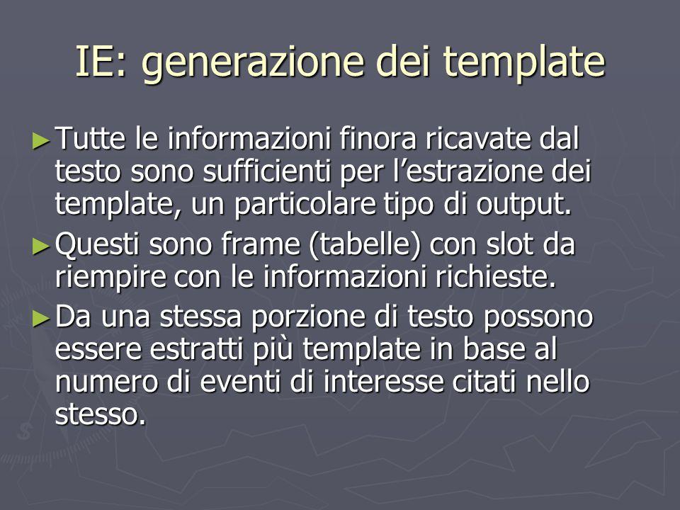 IE: generazione dei template
