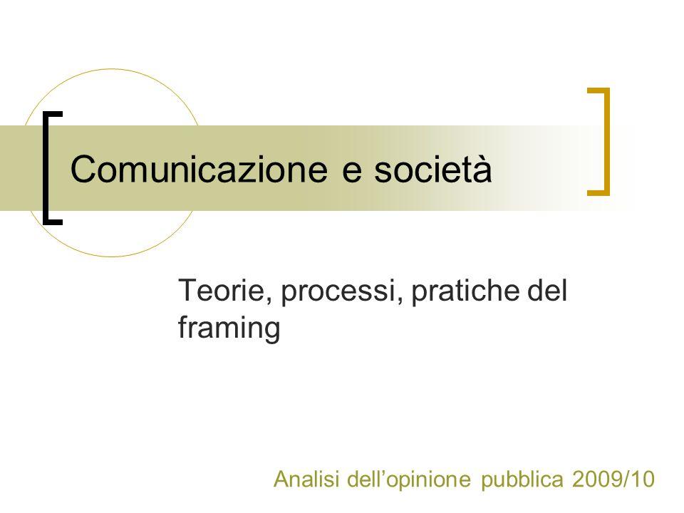 Comunicazione e società