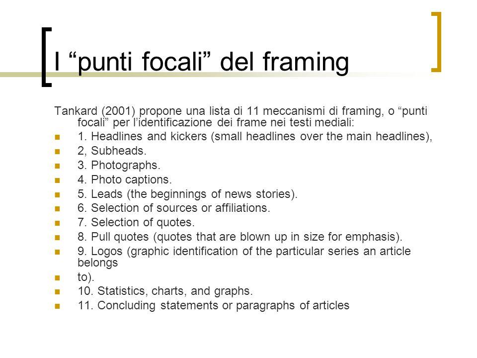 I punti focali del framing