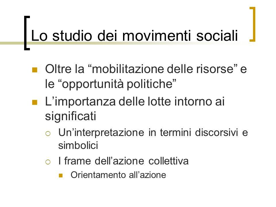 Lo studio dei movimenti sociali
