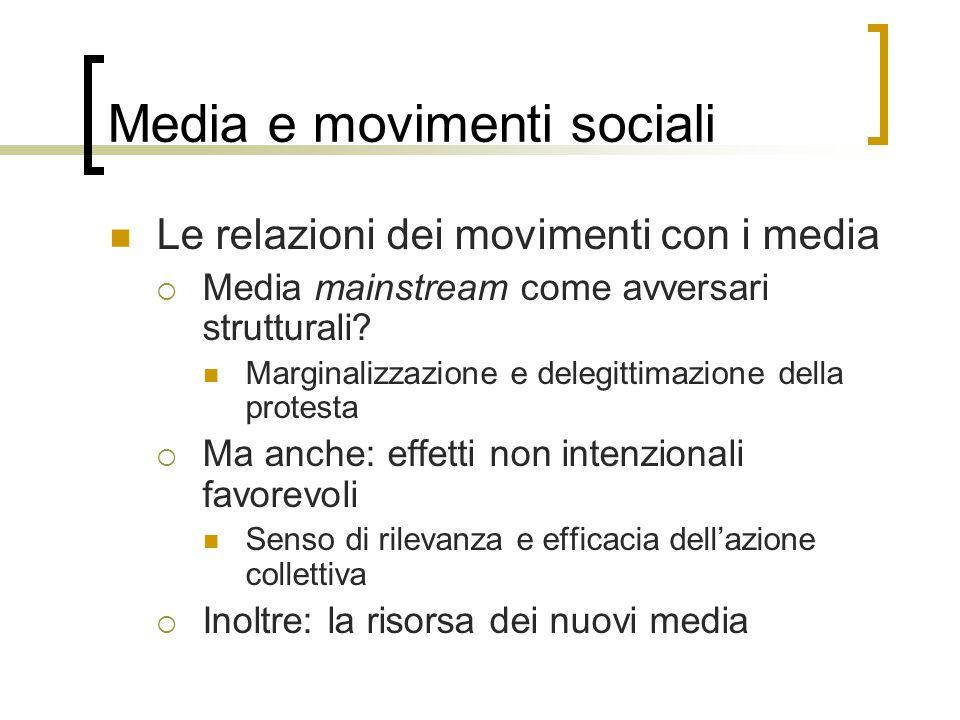 Media e movimenti sociali