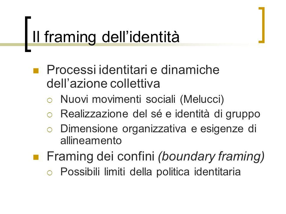 Il framing dell'identità