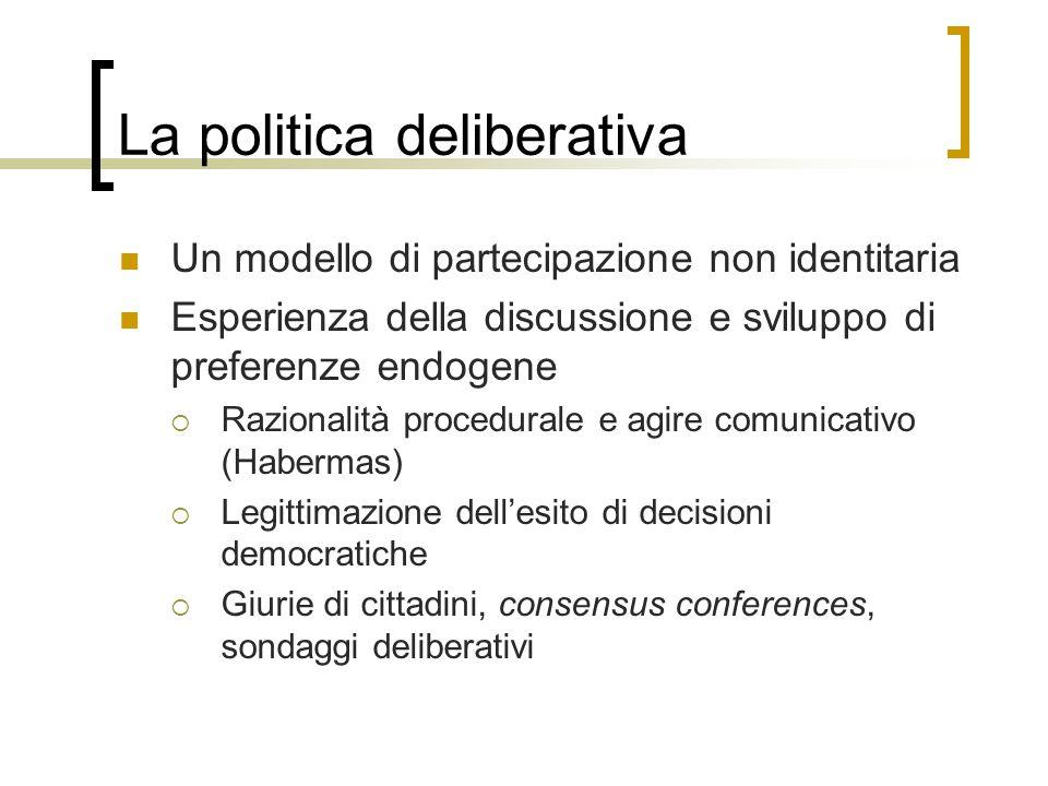 La politica deliberativa