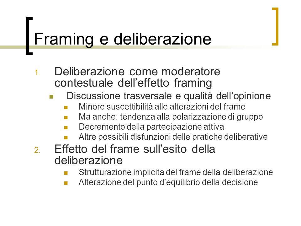 Framing e deliberazione