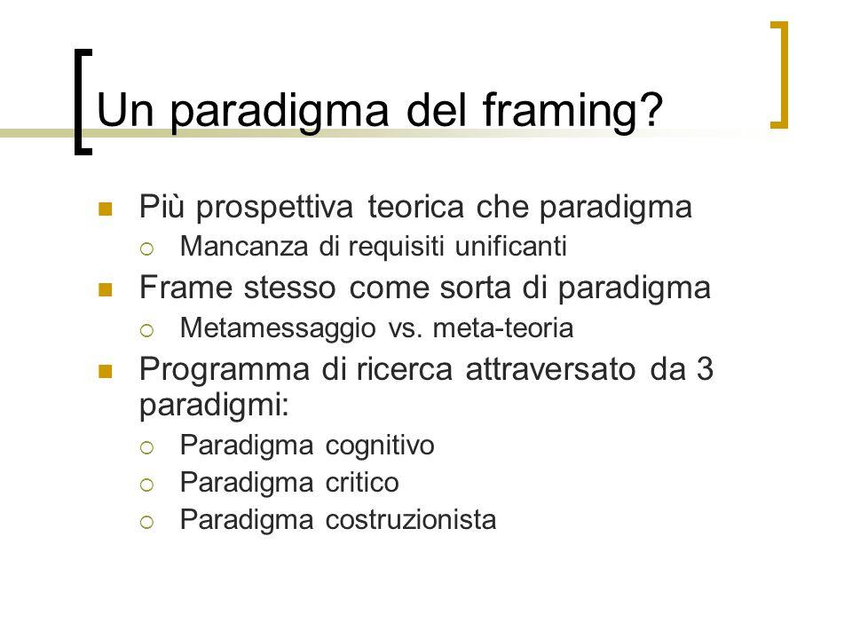 Un paradigma del framing