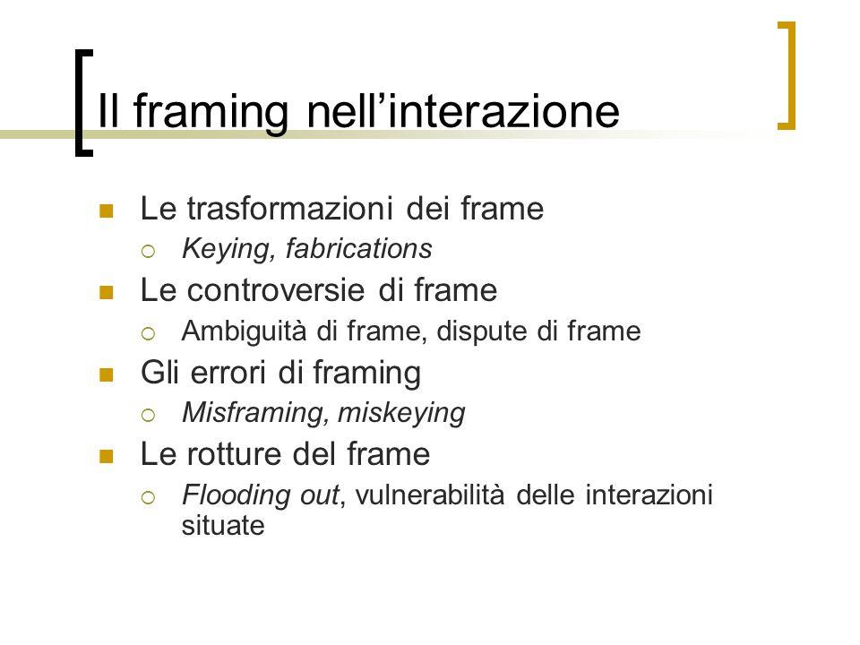 Il framing nell'interazione