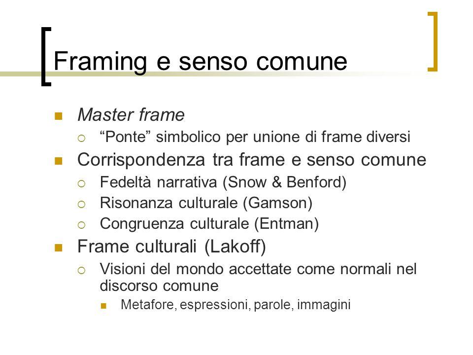 Framing e senso comune Master frame