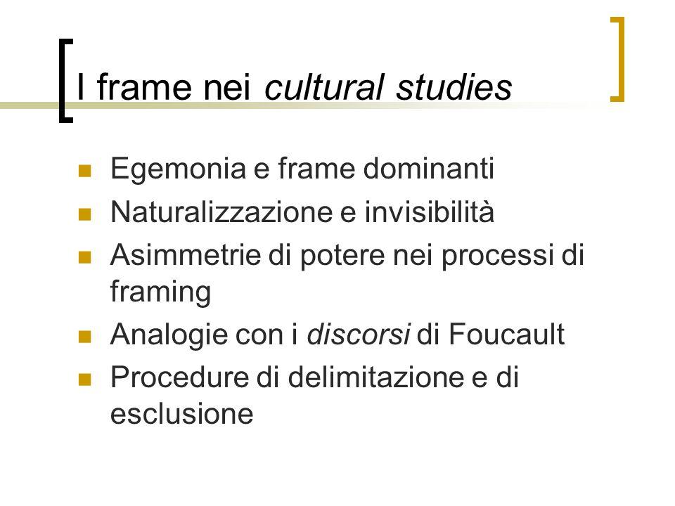 I frame nei cultural studies