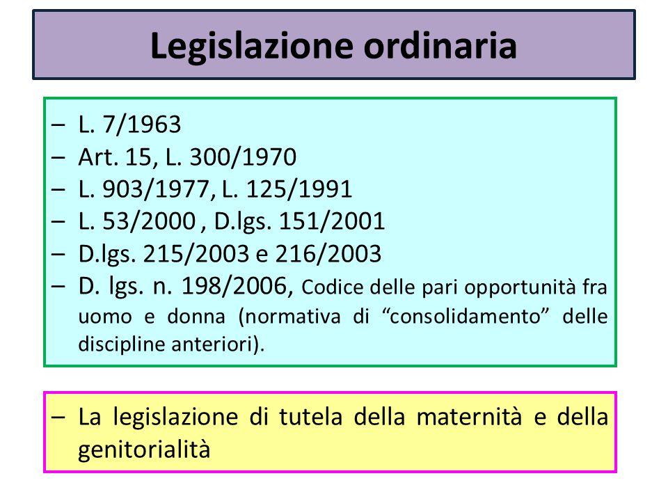 Legislazione ordinaria