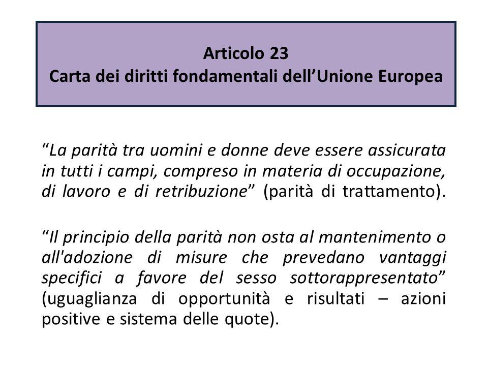 Articolo 23 Carta dei diritti fondamentali dell'Unione Europea