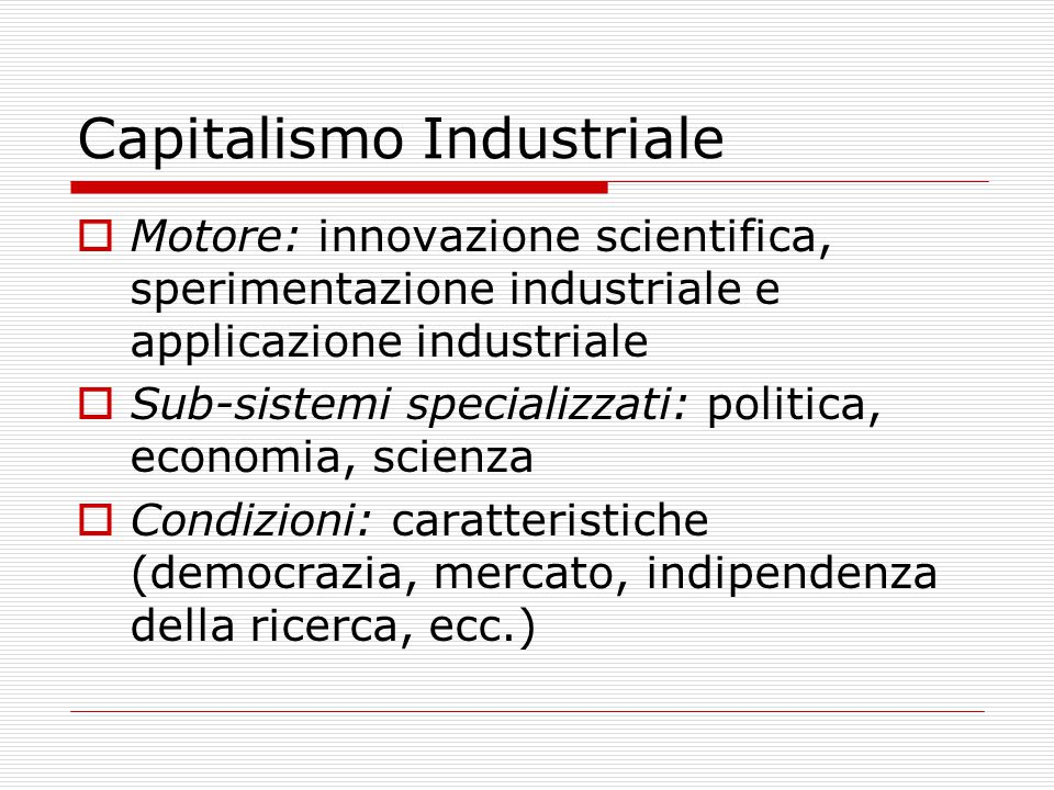 Capitalismo Industriale