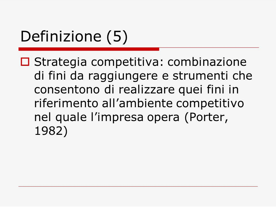 Definizione (5)