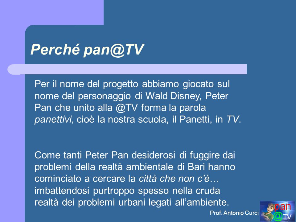 Perché pan@TV