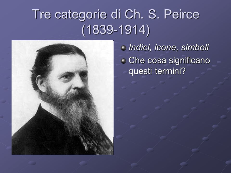 Tre categorie di Ch. S. Peirce (1839-1914)