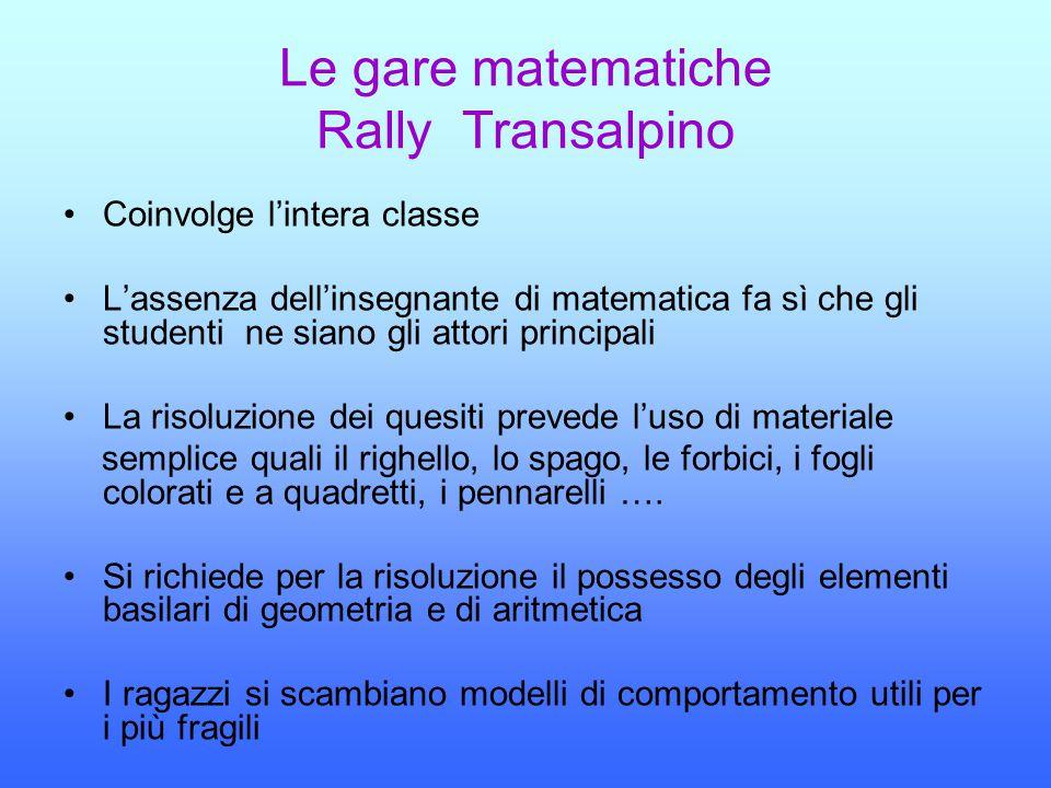 Le gare matematiche Rally Transalpino