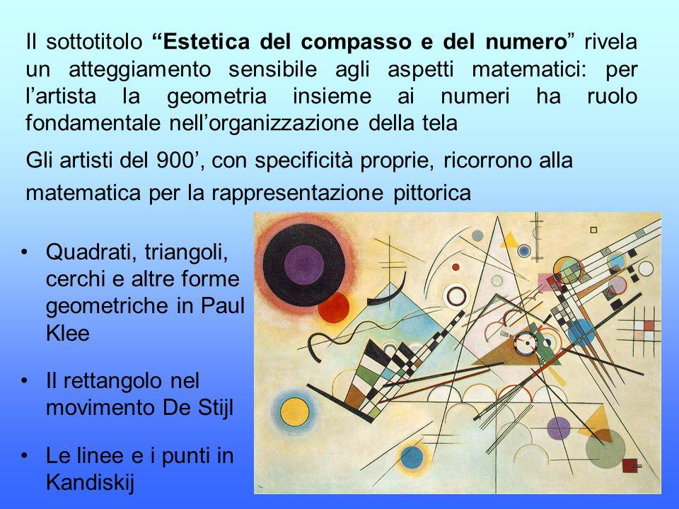 Il sottotitolo Estetica del compasso e del numero rivela un atteggiamento sensibile agli aspetti matematici: per l'artista la geometria insieme ai numeri ha ruolo fondamentale nell'organizzazione della tela